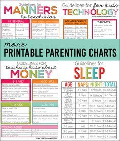 4 More Printable Parenting Charts from www.thirtyhandmadedays.com