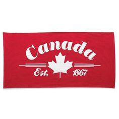 style factory™/MC 'Canada Day' Velour Beach Towel