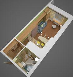 Выбираем дизайн для маленькой квартиры студии от 16 до 20 кв м , план  студии на