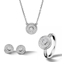 """TABBAH -- The #BERET Edition"""" Diamond Collection #Pendant #Ring #Earrings"""