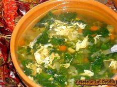 My Recipes, Soup Recipes, Romanian Food, Romanian Recipes, Spinach Egg, Palak Paneer, Food Videos, Good Food, Food And Drink