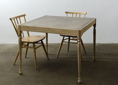 Square Table with Brass Top - James Mudge, South Africa Africandy Custom Made Furniture, Wooden Furniture, Table Furniture, Furniture Making, Furniture Design, Dining Room Chairs, Dining Table, Small Chair For Bedroom, Restaurant Tables And Chairs