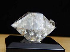 Herkimer Diamond Water Clear Crystal w/ Drusy Matrix, Genuine NY Display Mineral  | eBay