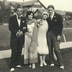 Rudolph Valentino and Pola Negri at the wedding of Mae Murray and Prince David Mdivani