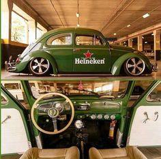 VW Beetle Heineken #greenbeetle #popculturevw