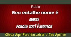 Rubia: Descobrir Agora Qual Apelido Combina Com Você!