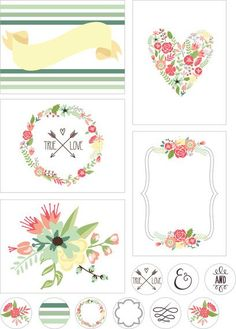 I have finally had time to do another freebie for you. I noticed that these florals are starting to become extremely popular on pinterest, etsy, etc. I signed up for a free trial on GraphicStock and