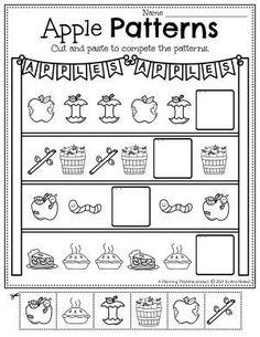Apple Stand Patterns - Apple Worksheets Preschool