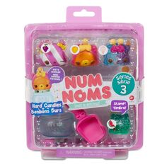 Num Noms Series 3 Candy Starter Pack is great for adding series 3 Num Noms to your collection. Scented Nums are adorable, squishy characters with tons of personality. The Nom is a scented stamp! Stack the Nums on top of the Noms to make 1,200+ sweet scented combinations.