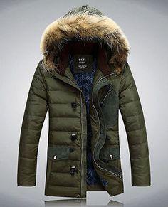 Men-Warm-Parka-Fur-Collar-Hooded-Winter-Thick-Duck-Down-Coat-Outwear-Down-Jacket