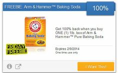 Reminder: FREE Arm & Hammer Baking Soda (Savingstar)