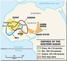 Mali in the thirteenth century    It was founded when the Malinke people broke away from Ghana. The royal family embraced Islam to strengthen their authority. Mali depended on agriculture and the control of trade routes linking the gold fields to the south with the Mediterranean. The Empire of Mali conquered many of its neighbors.