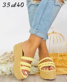 MUKILA Womens Platform Wedges Sandals Classic SANTA MONICA - 10 / YELLOW