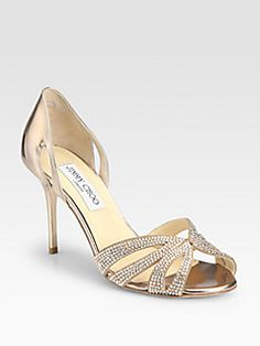 1730836edbc8 Jimmy Choo - Bauble Crystal-Coated Suede Sandals Prom Shoes