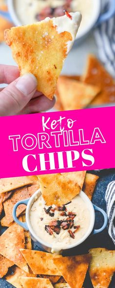 Easy Keto Tortilla Chips Recipe – delicious easy crunchy tortilla chips that are perfect for a keto diet! Low carb, gluten free, and works great in salsa and dips! If you're starting a keto or other low carb diet, this recipe is the go-to for deliciou Ketogenic Recipes, Low Carb Recipes, Diet Recipes, Ketogenic Diet, Lunch Recipes, Slimfast Recipes, Ketogenic Breakfast, Dessert Recipes, Paleo Diet