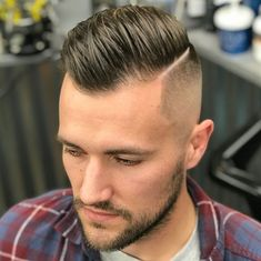 And great haircuts in particular Men New Hair Style, Gents Hair Style, Hot Hair Styles, Hair And Beard Styles, Curly Hair Styles, Buzz Cut Receding Hairline, Men Haircut 2018, Hard Part Haircut, Fade Haircut Styles