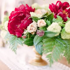 http://bit.ly/1o81dpO Romance is great and all but this lady loves the sweet colors and glitter that comes with #ValentinesDay! Check out my favorite sparkling #weddingideas in pink and red on the blog today! #flowers #floral #peony #peonies #centerpiece #weddinginspiration #wedding #engaged #valentine #valentines #crimsoncharm #WeddingPhotography by @connie_whitlock #FloralDesign by @coricookfloraldesign