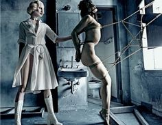 Another disturbing torture scene. I often ask this but…is this fashion? Really?