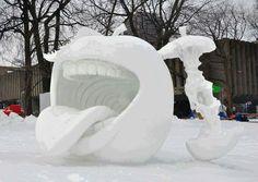 Schnee Skulptur