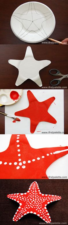 Nice and awesome starfish art for kids www. Nice and awesome starfish art for kids w Summer Crafts For Kids, Summer Art, Projects For Kids, Art For Kids, Art Projects, Under The Sea Theme, Under The Sea Party, Ocean Crafts, Beach Crafts