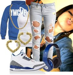 """YMCMB (-_-)"" by kissmyswagg23 ❤ liked on Polyvore"