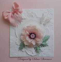 Selma's Stamping Corner and Floral Designs: Susan's Garden Pink Poppy - Tutorial