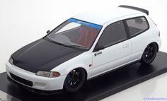 Honda Civic EG6 Spoon, Group A Racing, weiss/matt-schwarz. Tarmac Works, 1/18, No.T01-WH, resin Limited Edition 300 pcs. Price (2016): 160 EUR.