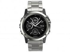Relógio Monitor Cardíaco Multiesporte Garmin - Fenix Saphira Resistente à Água 010-01338-41