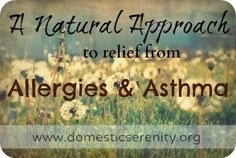 Our step by step approach that worked in relieving asthma for our son!