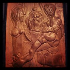 CUadro Picasso hecho en cuero, Noelia Stm