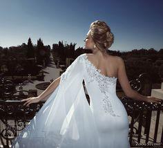 zoog bridal 2013 one shoulder wedding dress back - PERFECT HAIR