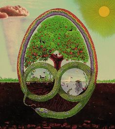 There are varying accounts of creation, but have common elements. A rainbow usually associated with a creation serpent. Amma is the cosmic egg, Nommo is the creator spirit that rose from Amma, and Digitara Exilius upholds all creation.