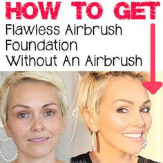 kandee johnson how to do airbrush makeup for oily skin without spray gun using fingers or brush Makeup tutorials you can find here: http://crazymakeupideas.com/tips-for-summer-makeup/