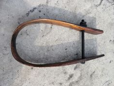 "Antique Wooden Bow from Ox/Cattle Neck Yoke 19"" Primitive Decor Ranch Cabin"