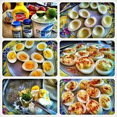 Clean eats devil eggs