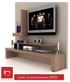 Centro de Entretenimiento Tv Unit Furniture, Furniture Decor, Living Room Furniture, Master Bedroom Interior, Interior Design Living Room, Living Room Designs, Tv Unit Decor, Tv Wall Decor, Tv Stand Designs
