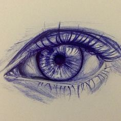 """The eye can't lie , But it can be lied to! And here I am trying to """"study"""" again but this eye won't let me focus #my_drawing ✏️ #رسمي"""
