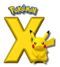 Abecedario de Pikachu de Pokémon. Pikachu Alphabet. Pokemon Letters, Pokemon Names, Disney Letters, Pokemon Party, Pokemon Birthday, Alfabeto Do Pokemon, Alphabet, Brother Birthday, Boy Birthday