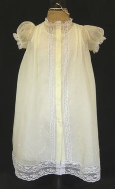 SOLD! Light Yellow Embroidered Daygown