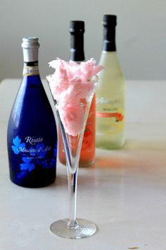 Add a little cotton candy to your champagne for a moms night in