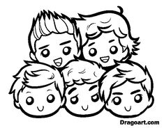 Kleurplaten One Direction Niall.One Direction Band Coloring Pages Coloring Page