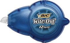 $4.50 Staples...BIC® Wite-Out® EZ Refill Correction Tape; Tape level gauge lets you know when it's time to refill; 14 metres of strong, tear-resistant correction tape; Flexible applicator tip.