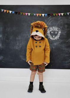 Childs Ferocious Felt Lion Coat di littlegoodall su Etsy, $160.00