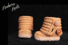 Ravelry: Boys or Girls Fold Over Button Up Booties.#43 pattern by Amanda Chapman