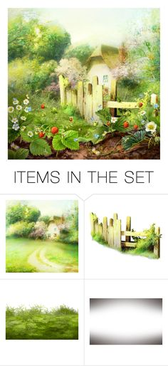 """""""The garden strawberry"""" by kseniz13 ❤ liked on Polyvore featuring art, garden, Summer, nature and strawberry"""