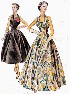 STUNNING RARE 50s Vintage Pattern McCall's by allthepreciousthings, $145.00