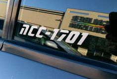 STAR TREK NCC-1701 Decal Vinyl Car Window Sticker ANY SIZE