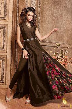 Designer Printed #Pakistani #Anarkali Suits Online@ http://www.pavitraa.in/catalogs/catalog-products/?catalog=Indian-Wedding-Dresses-For-Brides #Anarkalis, #Designersuits, #weddingsuitsonline, #Pakistanianarkali, #Partywearanarkali, #floortouch, #Pavitraa, #PrintedAnarkali