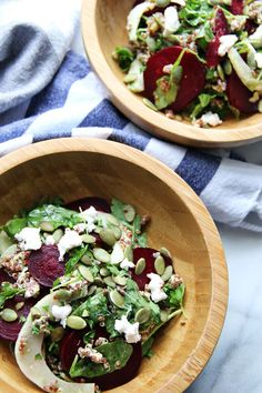 Quinoa with beets, fennel, goat cheese, and curry vinaigrette - The Pastiche