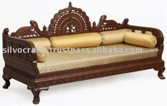 Royal Hand Carved Wooden Sofa Set for Hotel Industry Lobby Area & Liiving Room Furniture by Classic Silvocrafts